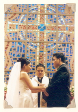 Bruce Reyes-Chow officiates a wedding